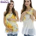 MamaLove Sleeveles Ropa Superior De Enfermería de Maternidad Lactancia Ropa de embarazo para Las Mujeres Embarazadas de Maternidad Del Verano Tops