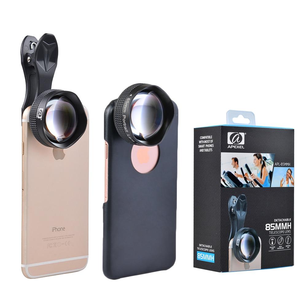bilder für Apexel smartphone kameraobjektiv kit universal 85mm super-makro clip-on handy kameralinsen für iphone xiaomiredmi samsung len