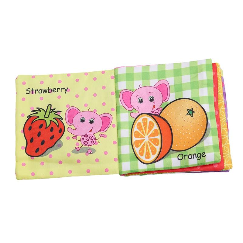 8/10 halaman bayi gemerincing menggerakkan mainan buku haiwan lembut - Mainan untuk kanak-kanak - Foto 3