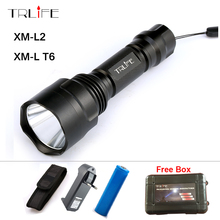 Waterproof 8000 Lumens Flashlight LED CREE XM-L2 Lantern Tactical Flashlight Torch Lamp+1x 18650 Rechargeable Battery + Charger
