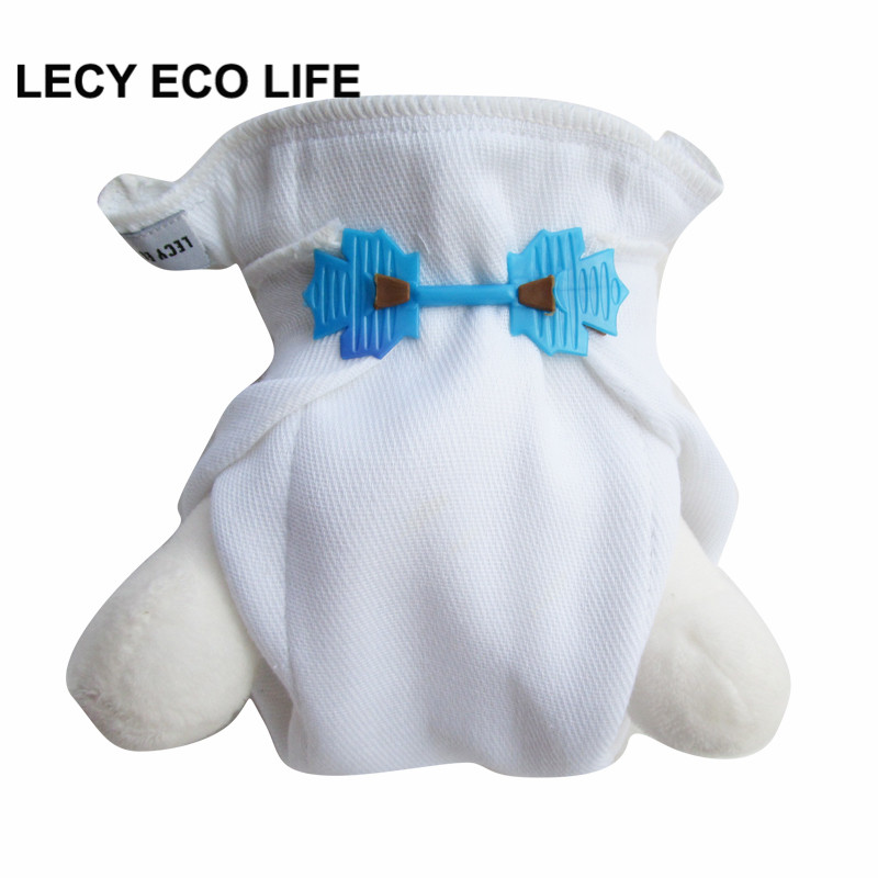 LECY ECO LIFE 100% organic cotton 4pcs newborn prefold diaper with 2pc free diaper fastener,2X4X2 Layers insert for diaper cover