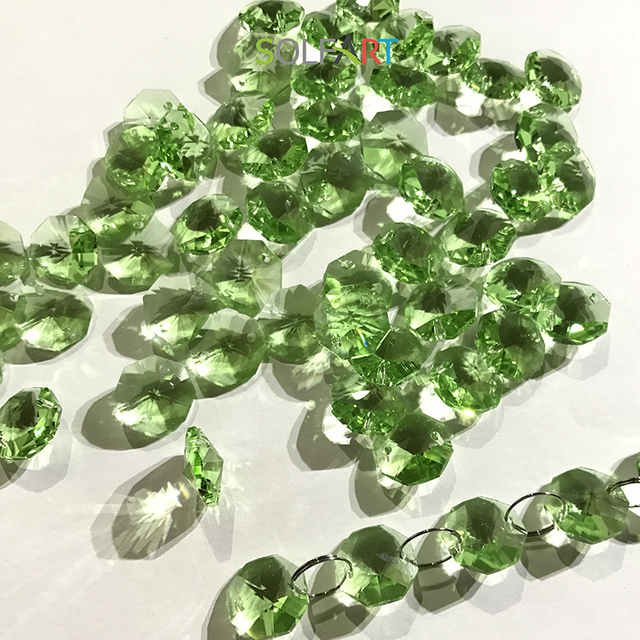 Solfart 50 pcs 14m chandelier octagon beads hanging green crystal solfart 50 pcs 14m chandelier octagon beads hanging green crystal bead green crystal chandelier beads chandelier aloadofball Choice Image