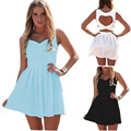 Summer Style Women Sexy Dresses Party Night Club Dress 2015 New Arrival Backless Dress Sleeveless Hollows Vestidos C160