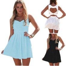 Yaz Yoldam Bayan Seksi Elbiseler Parti Gece Kulübü Elbise 2015 Yeni Geliş Backless Elbise Kolsuz Hollows Vestidos C160