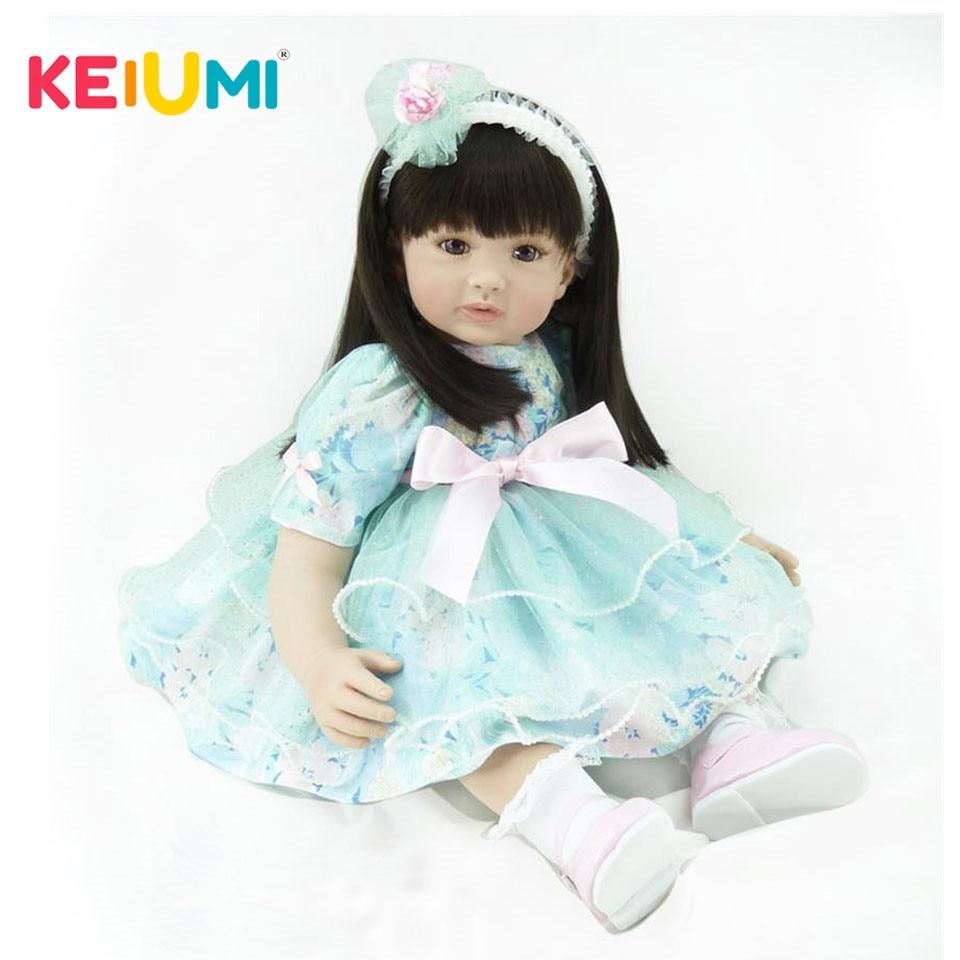 Realistic Fantasy Reborn Boneca 60 cm Princess Stuffed Doll Toys 24 inch Silicone Reborn Baby Dolls Girls For kids Birthday Gift