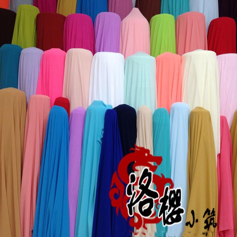 Pearl šifónové látky vysoce kvalitní šifonové kostýmy sukně hanfu cos oblečení vícebarevné tkaniny