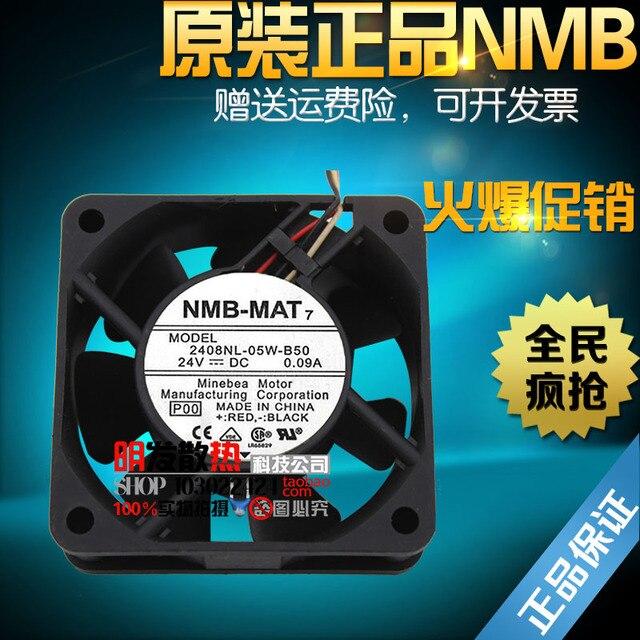 0.09A 2408NL-05W-B50 originais 60*60*20 24 V ventilador de fluxo axial