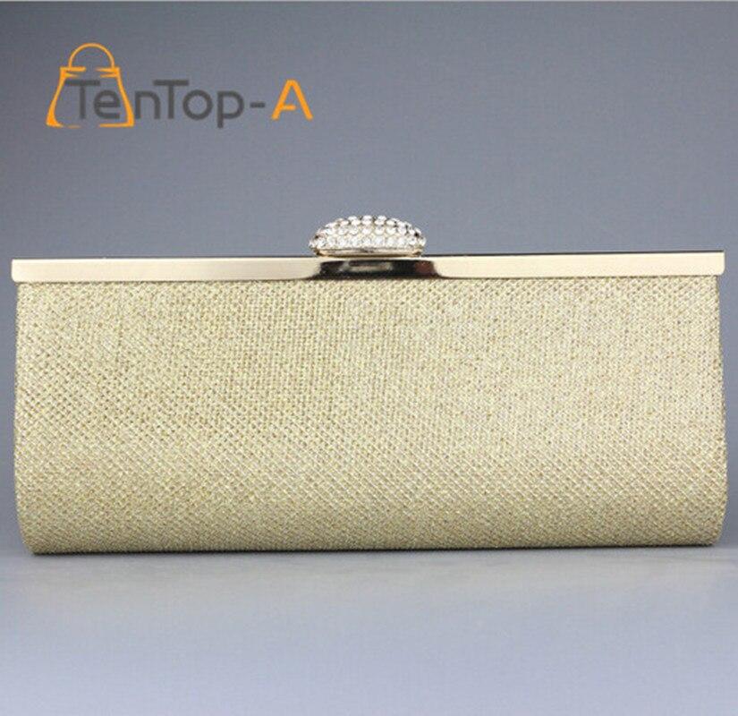 TenTop-Un Lujo Mujeres de Los Bolsos Diseñador de Oro de Diamantes Bolso de Noch