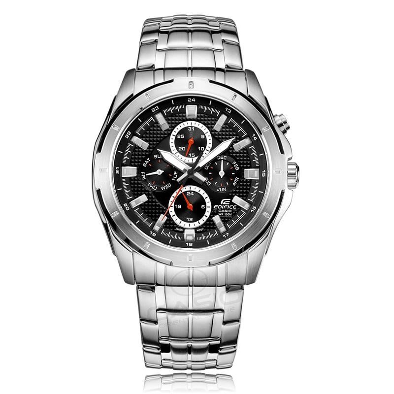 Casio Edifice Watch quartz watch stainless steel Wrist Watch relogio masculino men's business 10 bar waterproof watch EF-328D-1A casio ef 328d 7a