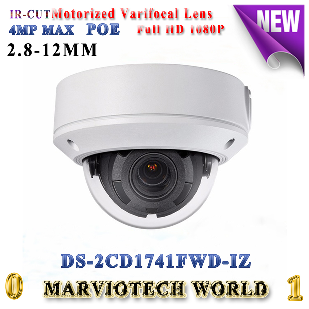 English DS-2CD1741FWD-IZ replace DS-2CD2745F-IZS 4MP dome IP Camera POE motorized varifocal lens H.264+ IP67 security camera