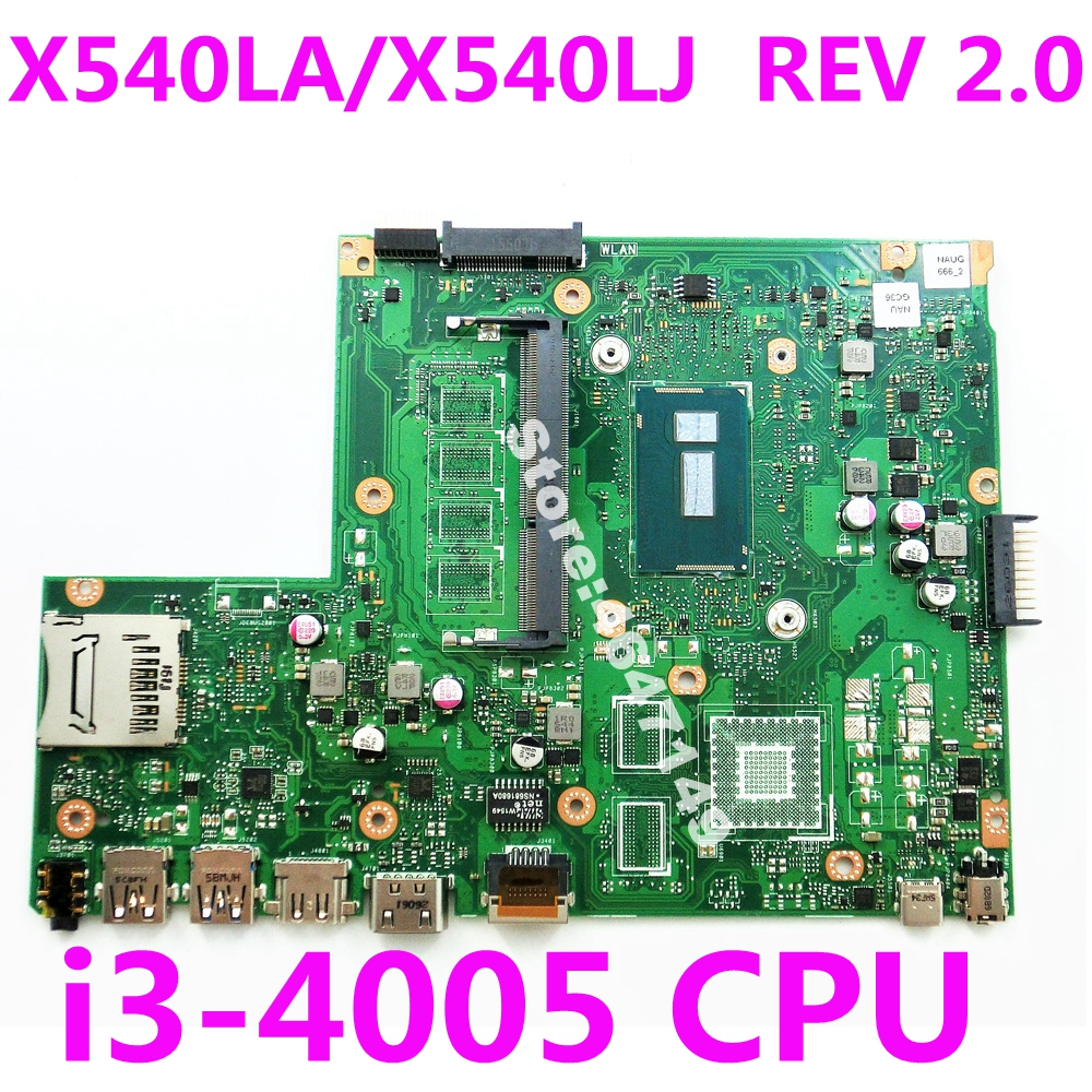X540LA i3-4005 CPU Mainboard REV 2.0 For <font><b>ASUS</b></font> <font><b>X540</b></font> X540L X540LJ laptop <font><b>motherboard</b></font> X540LA Mainboard X540LA <font><b>Motherboard</b></font> 100% Test image