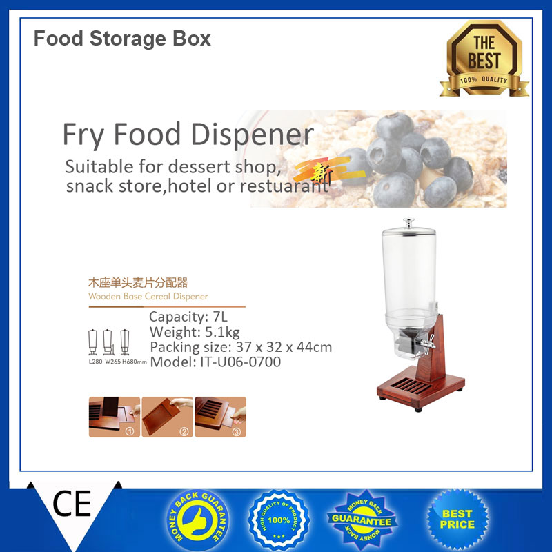 Food Storage Box 7L Wooden Base Triple Head Cereal Dispener Dry Food Dispenser fast delivery -in Utensil Sets from Home u0026 Garden on Aliexpress.com | Alibaba ...  sc 1 st  AliExpress.com & Food Storage Box 7L Wooden Base Triple Head Cereal Dispener Dry Food ...