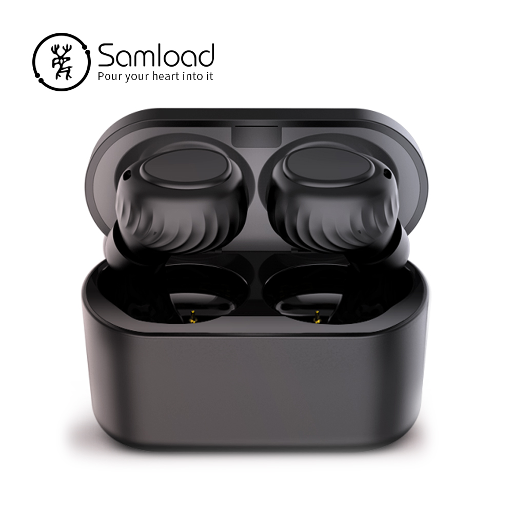 Samload Bluetooth 5.0 Earphones Eabuds Stereo Mini Music Headset Sports Runing Headphone With Charging box For iPhone 5 6 7 8 SE