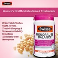 Swisse Menopause Balance Nutrients for Women's Health Reduce hot flushes night sweats trouble sleeping & nervous irritability