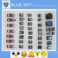 Бесплатный Shippiing 37 в 1 Датчика Комплект Для Arduino Начинающих киз марки на складе хорошим качеством низкой цене