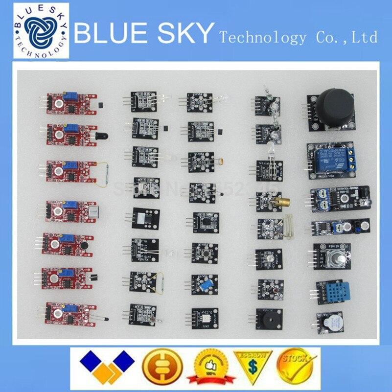 Free Shippiing 37 in 1 Sensor Kit For Arduino Starters keyes brand in stock good quality