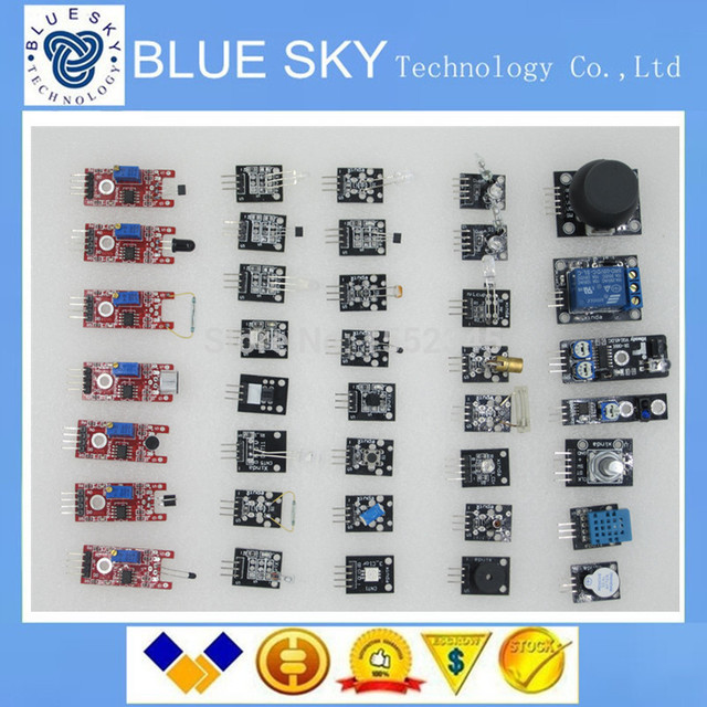 Shippiing livre 37 em 1 Kit De Sensor Para Arduino Entradas keyes marca em preço baixo estoque de boa qualidade