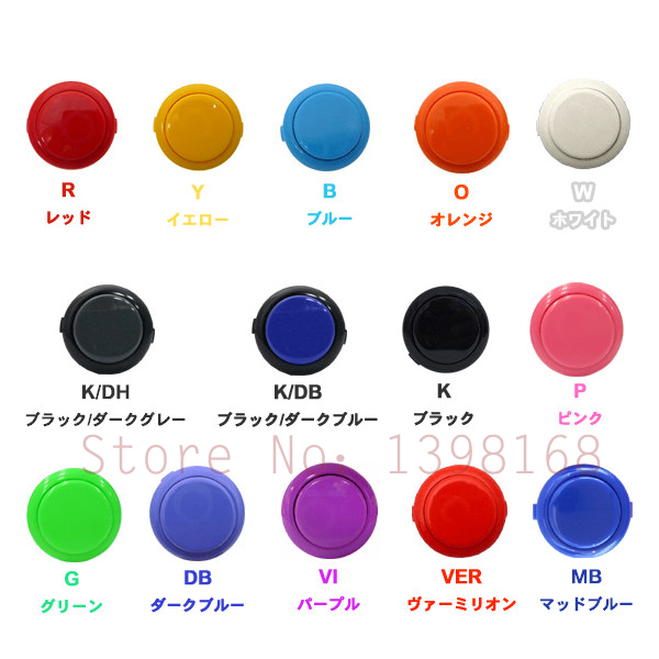 10 PCs Official Original OBSF-30 Sanwa Push Button For Coin Operated Arcade Game Cabinet Parts Accessories