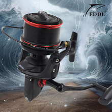 Superior Full Metal Spool 12+1BB 10000 Series Surf Spinning Fishing Reels Big Long Shot Casting Fly Sea Wire Cup Wheels 4.6:1