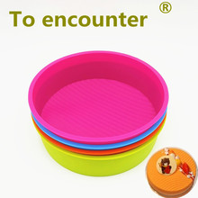 To encounter 9 inch 22*22*6CM 165G Round Shape 3D Silicone Cake Mold DIY Baking Tools Bakeware Maker Mold Baking Pans