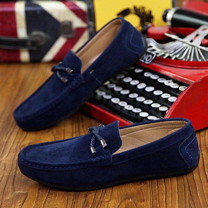 Hommes Chaussures wine Qualité Grey Haute En blue Appartements Red De Cuir Casual Conduite Mocassins Nouveau Mode black Lettbao pEqwgg