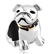 LeoBon Dog Beagle Pet Germany Bulldog Animal Charms Sale Cheap New Jewelry Beads Fit Pandora Charm Bracelet(China)