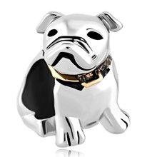 LeoBon Dog Beagle Pet Germany Bulldog Animal Charms Sale Cheap New Jewelry Beads Fit Pandora Charm Bracelet
