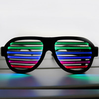 2017 USB Sound Reactive Rechargeabe LED Glasses For Party Night Club Barware Concert Sound Control Novelty