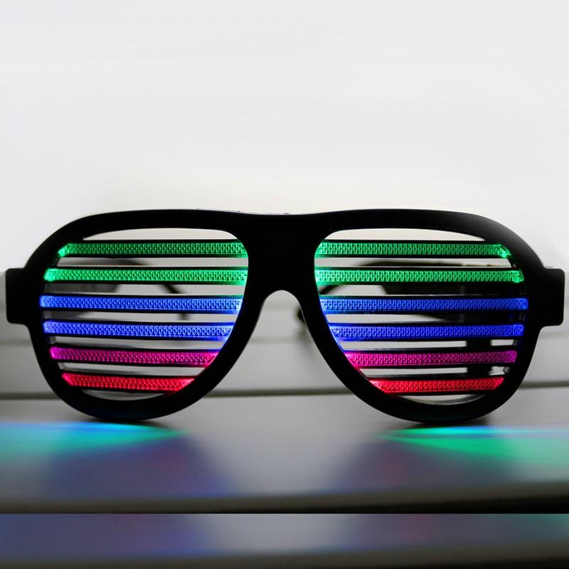 ¡Nuevo! Gafas LED recargables reactivas de sonido USB para fiesta, - Iluminación de vacaciones
