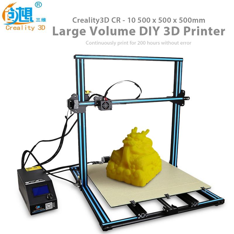 Creality 3D CR-10S5 Version Agrandie 3D Imprimante 500x500x500mm Impression DIY Kit carte Mémoire hors ligne d'impression