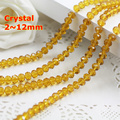 Amber Color 2mm,3mm,4mm,6mm,8mm 10mm,12mm 5040# AAA Top Quality loose Crystal Rondelle Glass beads