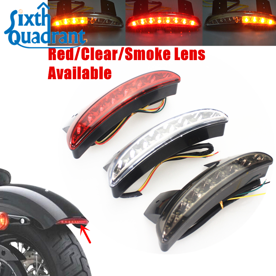 Back To Search Resultshome Free Shipping Clear/smoke/red Lens Chopped Fender Edge Led Turn Signal Tail Light For Harley Sportster Iron Xl883 Xl1200 48