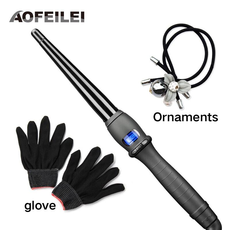 Керамика Инструменты для укладки волос профессиональные щипцы для завивки волос waver груша цветок конус электрические бигуди для волос Роли... ...