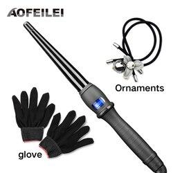 Керамические инструменты для укладки волос профессиональные щипцы для завивки волос Вэйвер груша цветок конус электрические щипцы для зав...