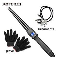 Ferramentas de estilo cerâmico profissional cabelo curling ferro vacilar pêra flor cone elétrica modelador cabelo rolo ondulação varinha
