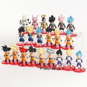 Image 3 - Dragon Ball Z Super Saiyan Son Goku  Gohan Vegeta Vegetto Syn Shenron Freeza Janemba Mini PVC Figures Toys 21pcs/set