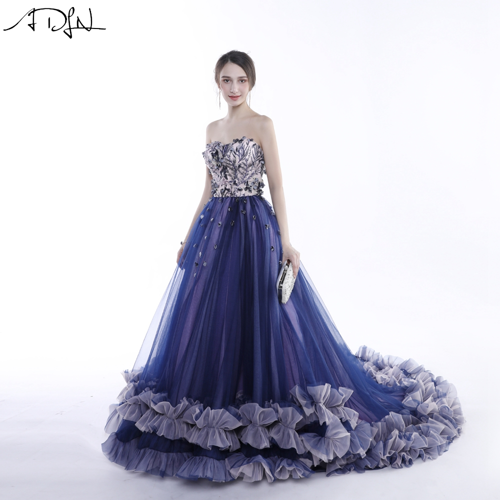 ADLN Puffy Purple Prom Dresses Long Formal Special Occasion Dresses ... ca9a8a17fc3e