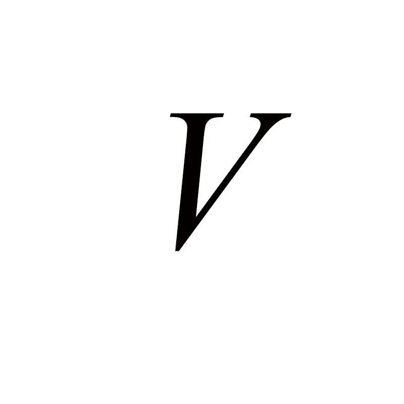 Персонализированные ручные штампованные A-Z, 26 букв, начальные крошечные кольца в виде сердца для женщин, золотые кольца на палец, ювелирные изделия - Цвет основного камня: V