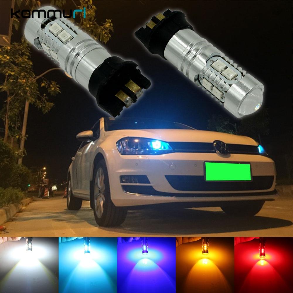 KAMMURI White Error Free PW24W LED Bulbs for VW Golf MK7 Golf7 Golf VII DRL Daytime Lights (2013-up with xenon headlight only) carprie super drop ship new 2 x canbus error free white t10 5 smd 5050 w5w 194 16 interior led bulbs mar713