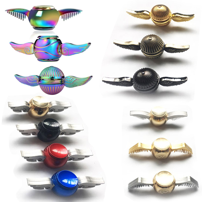 Fidget Spinner Harry Potter Golden Snitch Hand Spinners Rainbow Metal Copper Cupid Angel Wing Decompression Toy finger Gyro hand spinner harry potter