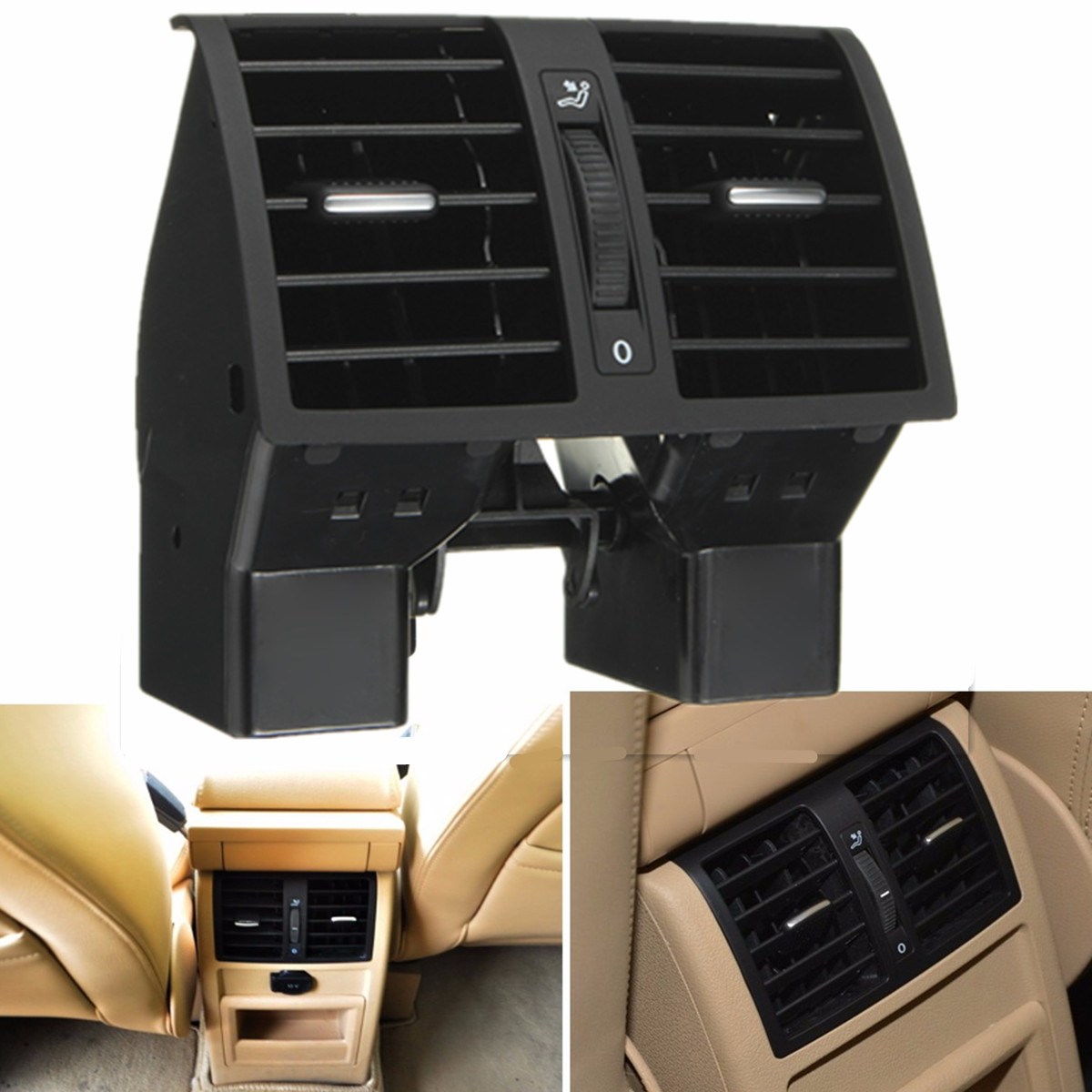 Centre Console Arrière AC Climatisation Outlet Vent 1T0819203 1TD819203A 1TD819203B Pour VW Touran 2003-2015 Caddy 2004- 2015
