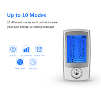 Carevas Massager Rechargeable Electric Pain Relief Machine 10 Modes Tens Unit Portable Pulse Muscle Stimulator Therapy Pain