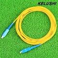 KELUSHI Бесплатная Доставка 3 м 3.0 мм SC-SC Косичку Волоконно-Оптические Перемычки FTTH одномодового Одноядерный волокна Соединительных Кабелей