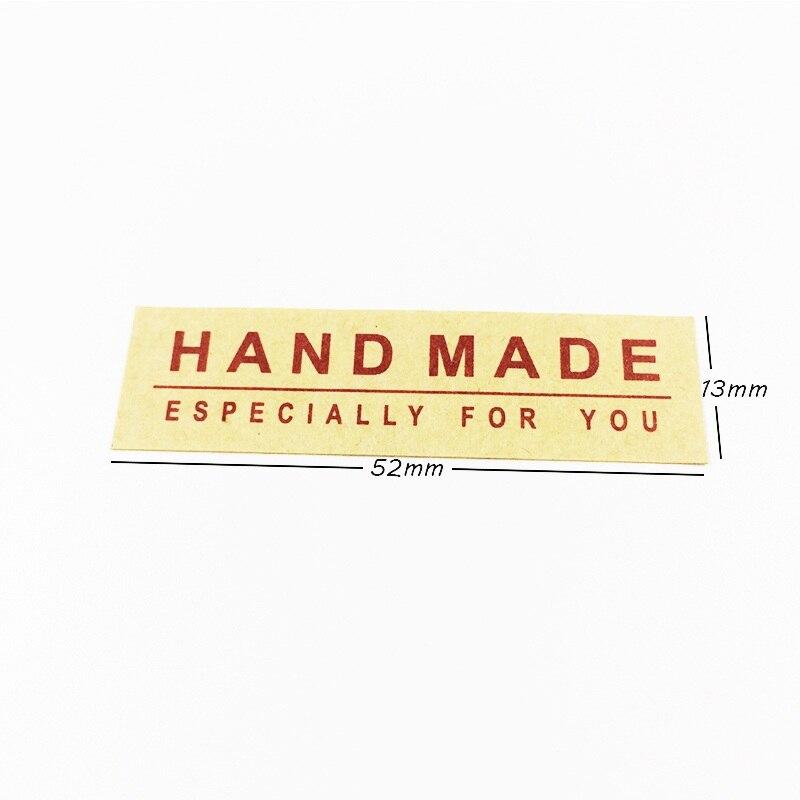 Купить с кэшбэком 160 Pcs/lot Red HAND MADE ESPECIALLY FOR YOU Seal Stickers Kraft Paper Label Sticker DIY Gift Decoration Stickers Scrapbooking