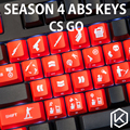 30 unids Keycaps CS IR Iluminado Rojo ABS para Teclado Para Juegos Mecánicos