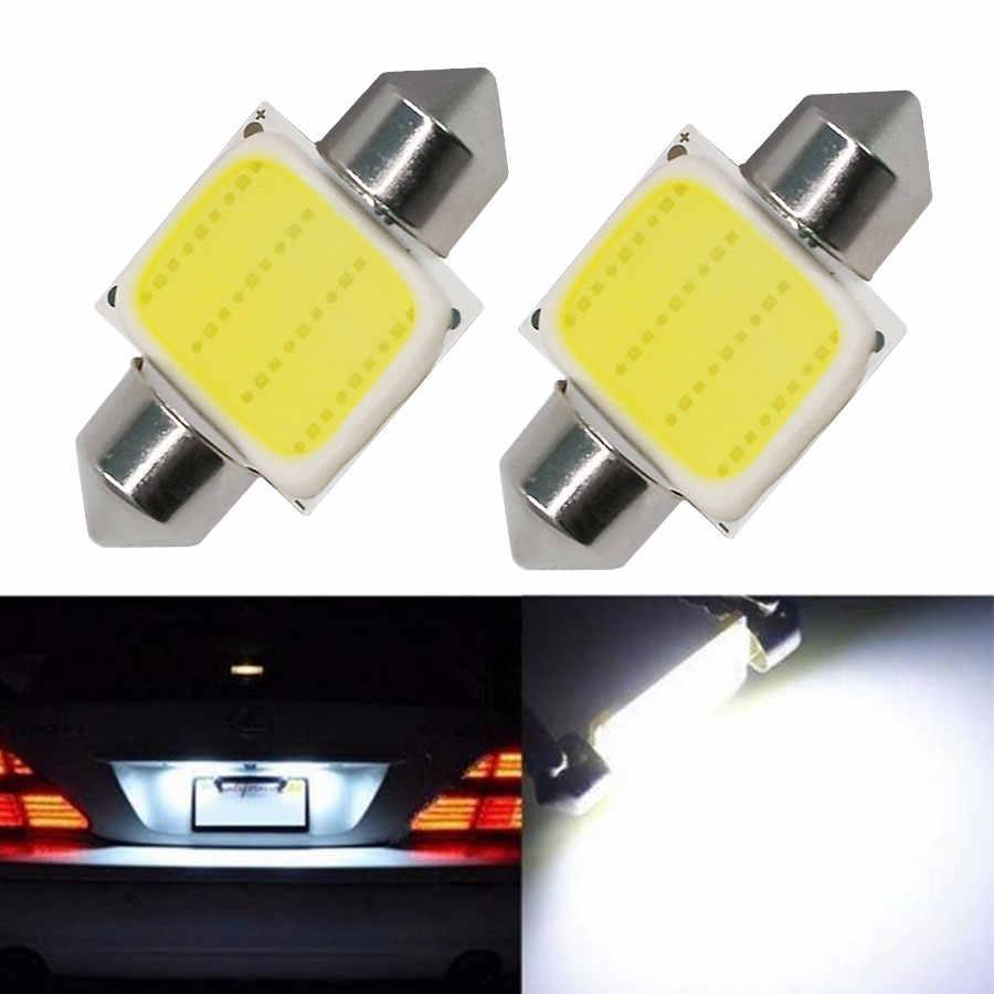 10X гирлянда 31 мм/36 мм/39 мм/41 мм C5W плазменный COB Светодиодный белый внутренний SMD лампы DC12V супер яркий Автомобильный источник света купольная лампа для чтения