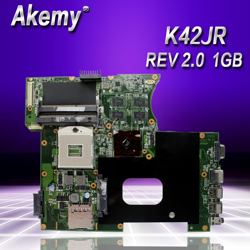 Akemy For Asus K42JR Laptop motherboard REV 2.0 HM55 DDR3 For ASUS k42j A40J K42JZ K42JB K42JY Laptop Mainboa 100% tested intact