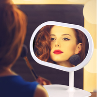 LED Makeup Vanity Mirror lamp 360 Degree Free Rotation Double light source LED Table Lamp Night Light USB Rechargeable lighting