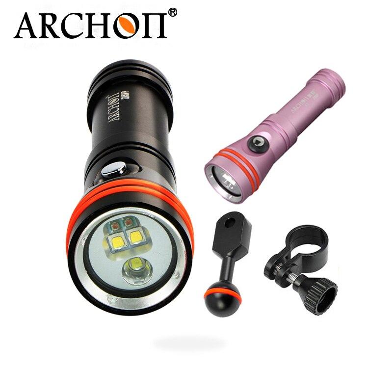 Archon CREE led 2 DANS 1 Plongée lampe de Poche 1300lm Spot de Plongée Torche et éclairage vidéo lampe sous-marine D15VP/W21VP