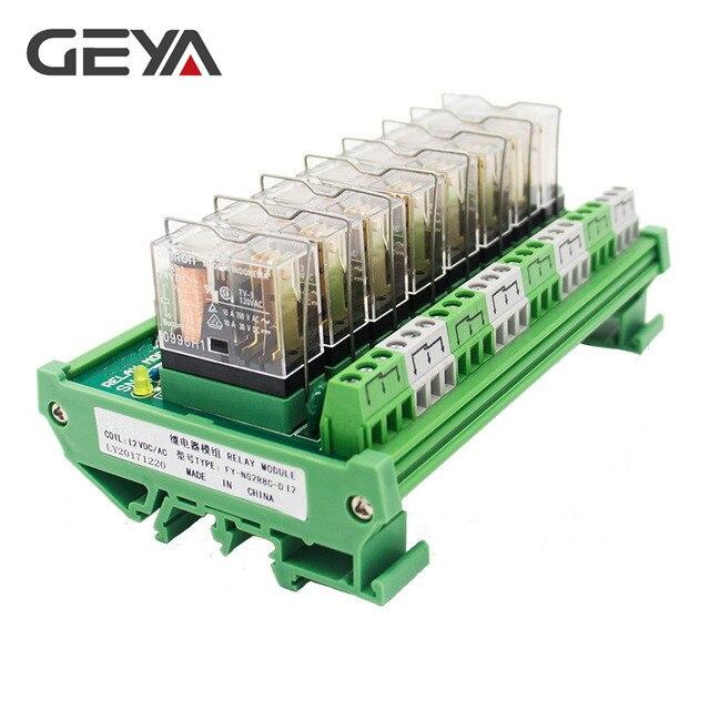 GEYA NG2R 8 Channel Relay Board 12V 24V Relay Board Remote Control Relay Module AC DC 1NO1NCGEYA NG2R 8 Channel Relay Board 12V 24V Relay Board Remote Control Relay Module AC DC 1NO1NC